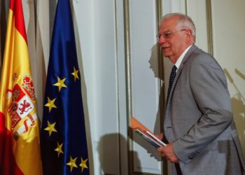 GRAF606. MADRID, 14/05/2019.- El ministro de Asuntos de Exteriores en funciones y cabeza de lista del PSOE a las elecciones europeas, Josep Borrell. EFE/Emilio Naranjo