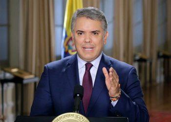 Iván Duque, presidente de Colombia. Foto: EFE.