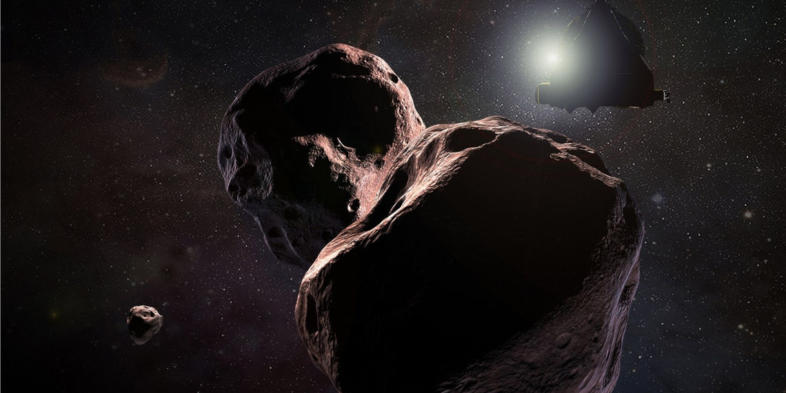 Asteroide Ultima Thule. Foto: Nasa