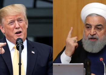 El presidente de EE.UU. Donald Trump, y el presidente de Irán, Hasan Rohaní. Foto: EFE