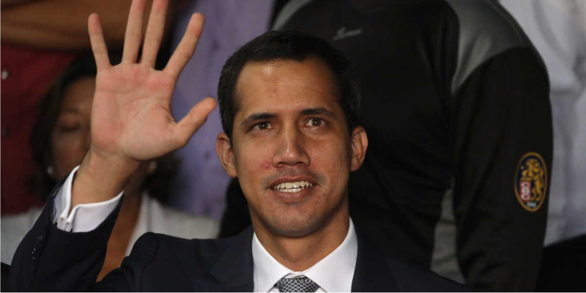 Juan Guaidó, presidente interino de Venezuela.  Foto: EFE