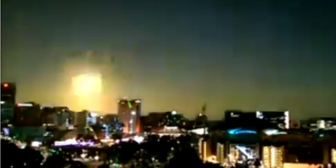 Meteorito cayó en Australia. Foto: Captura de video.