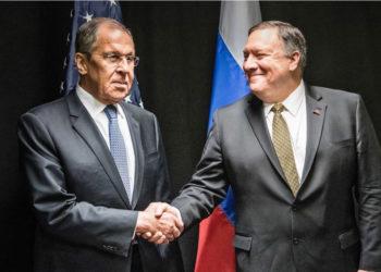 El Secretario de Estado de EE.UU. Mike Pompeo sostendrá un reunión con el Ministro de Exteriores de Rusia, Serguéi Lavrov. Foto: EFE.