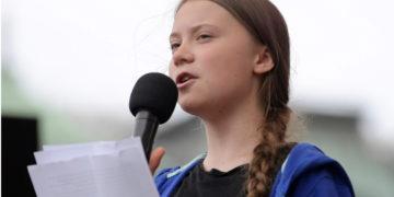 La activista sueca Greta Thunberg hizo un llamado al mundo para enfrentar el cambio climático. Foto: EFE.