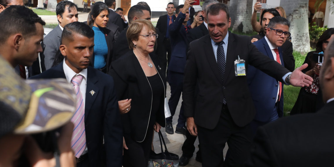 Bachelet llega al Palacio Federal Legislativo