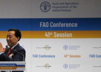 Viceministro chino Qu Dongyu es el nuevo director general de la FAO. Crédito: EFE/EPA/Riccardo Antimiani