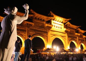 Acto conmemorativo del 30 aniversario de la masacre de Tiananmen de 1989, este martes en Taipei, Taiwán.