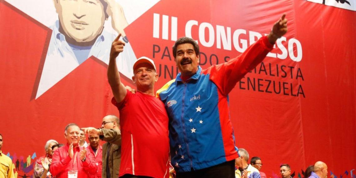 Hugo Carvajal (exjefe de la DCGIM) y Nicolás Maduro.