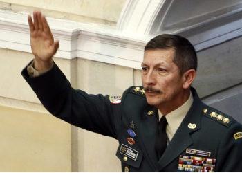 El excomandante del Ejército de Colombia, general Nicacio Martínez Foto: EFE