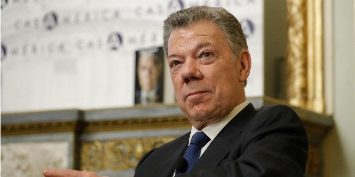 El expresidente de Colombia Juan Manuel Santos. Foto: EFE
