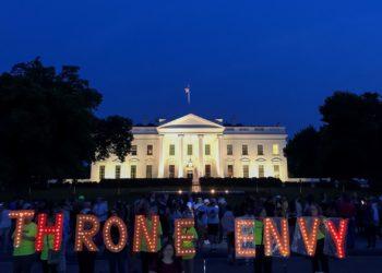 Foto referencial de protesta en Casa de Blanca, Washington. EFE.