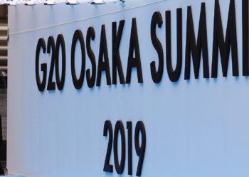 OSAKA (JAPÓN), 26/06/2019.- Entrada a la sede donde se celebrará la cumbre del G20 en Osaka, Japón, este miércoles. EFE/ Kimimasa Mayama