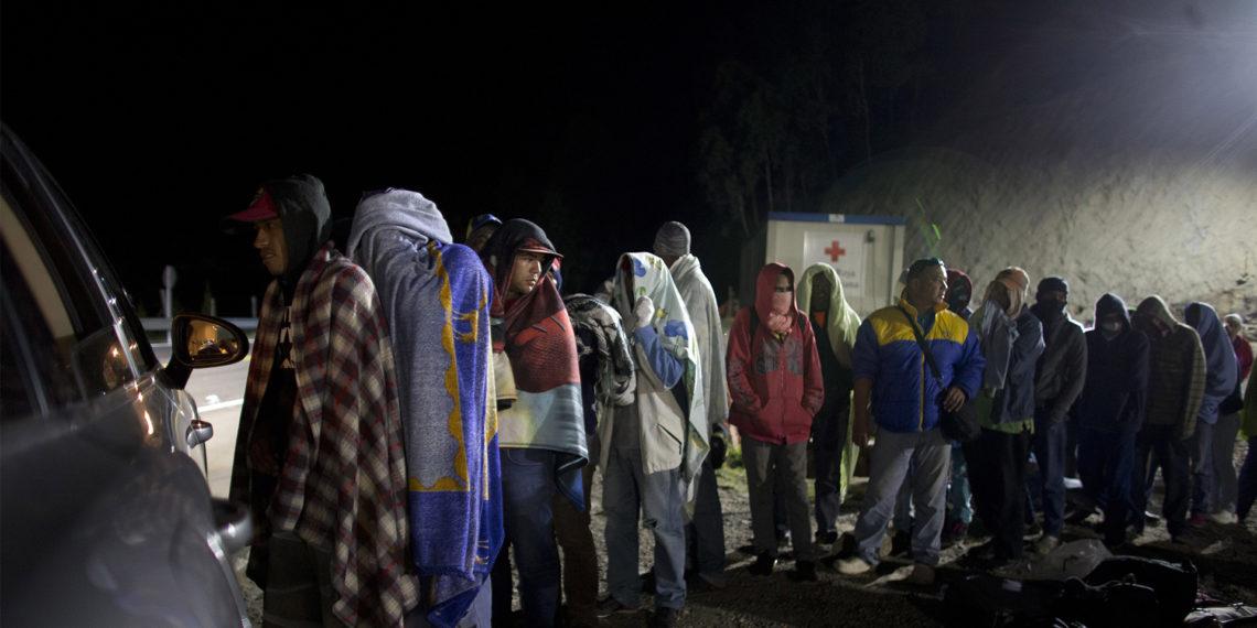 Migrantes venezolanos en la frontera de Perú. AP Photo/Ariana Cubillos