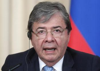 MOSCÚ (RUSIA), 03/06/2019.- El ministro colombiano de Exteriores, Carlos Holmes Trujillo.  EFE/ Maxim Shipenkov