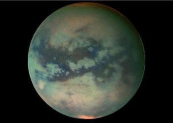 La luna de Saturno Titán. Foto: NASA