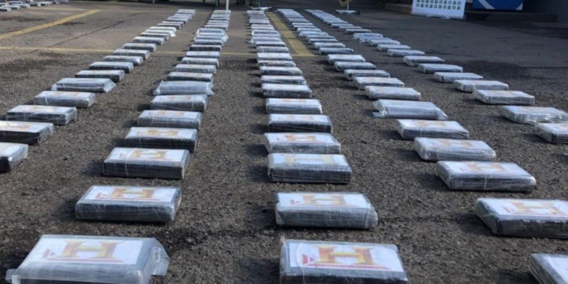 Imagen de referencia de cargamento de cocaína. Foto EFE.