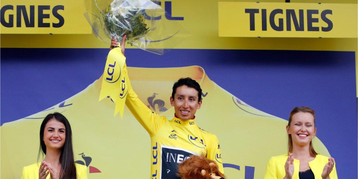 Egan Bernal, líder del Tour de Francia. Foto AP