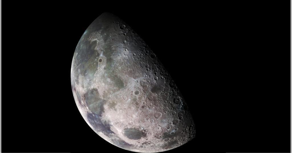 La luna desde la Tierra.