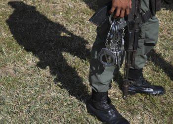 Militar custodio en cárcel venezolana Foto: AFP