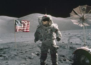 Apolo 17, la última misión desarrollada por la Nasa en la que estuvo un astronauta en la Luna. Foto: NASA