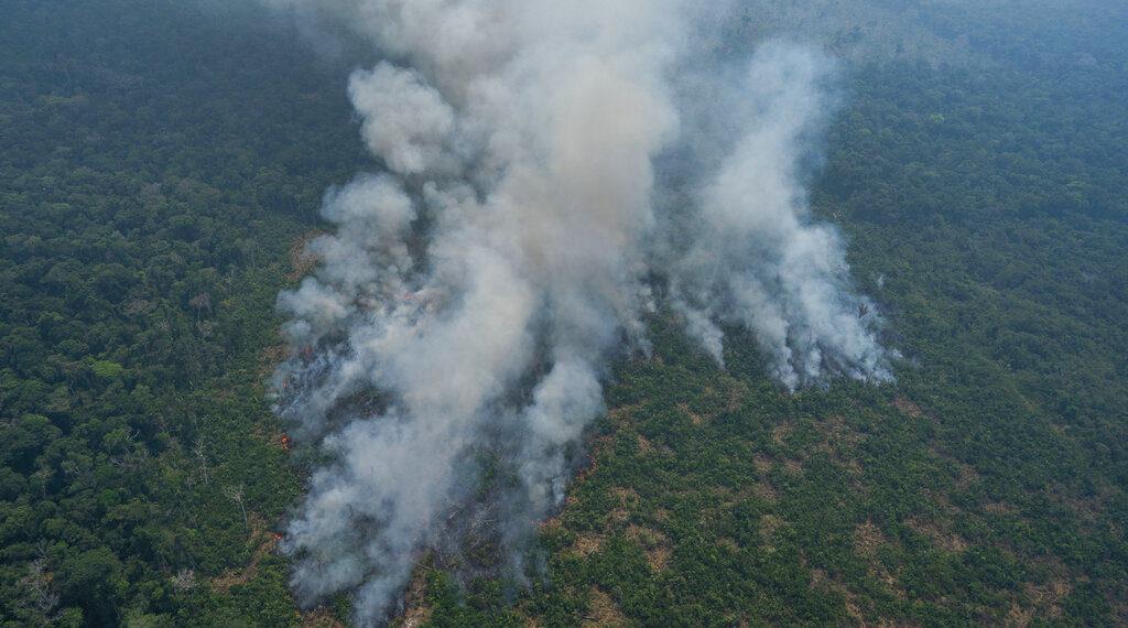 Incendios en la Amazonía. Foto: AP