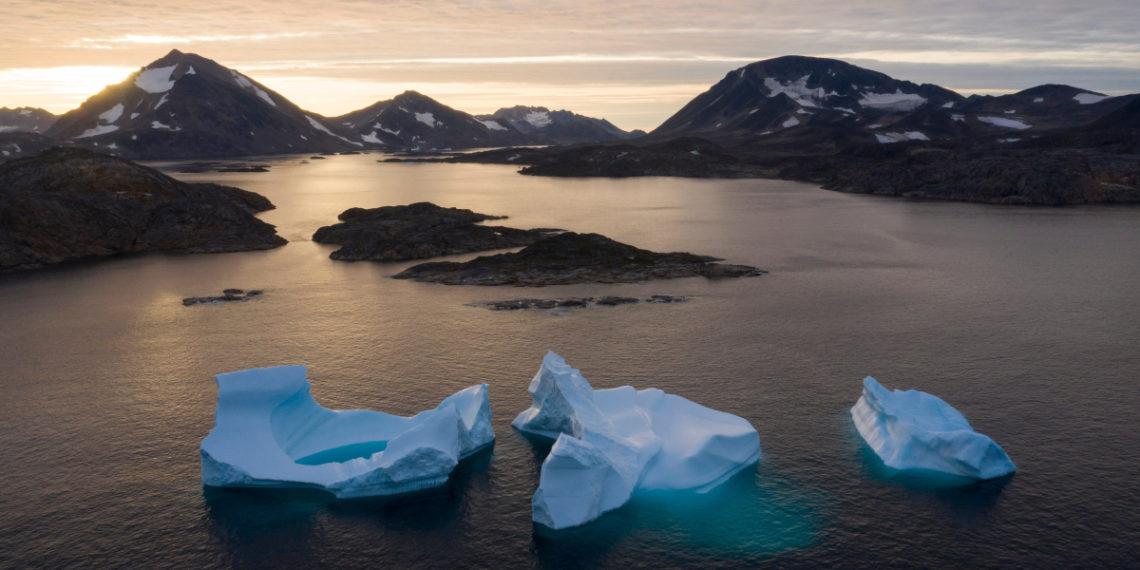 Deshielo en Groenlandia debido al cambio climático.  Foto: AP