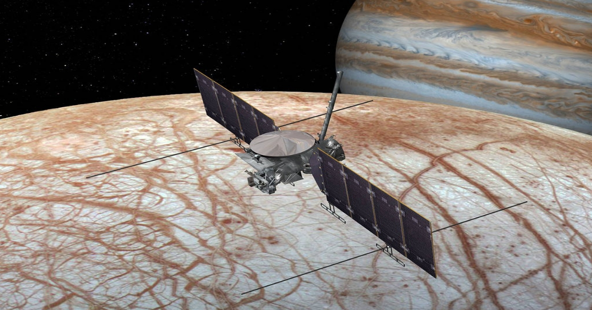 Render de la sonda Galileo en Júpiter