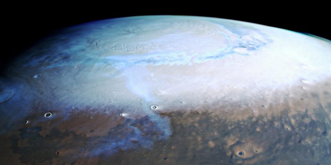 Imagen de referencia de Marte Foto: Agencia Espacial Europea (ESA).