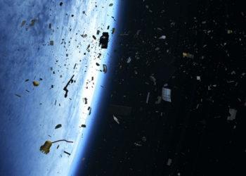 Basura espacial. Foto: Agencia Espacial Europea (ESA).