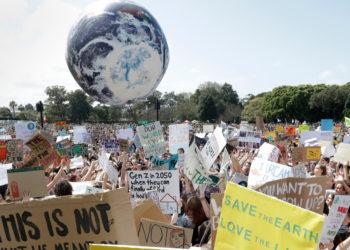 Protesta contra el cambio climático, en Sydney, Australia. Foto: AP