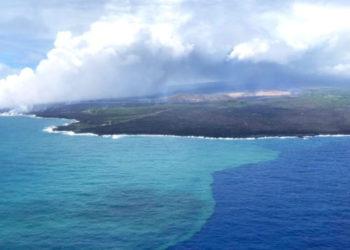 Revelan que una erupción volcánica provocó una gran floración de algas en el Pacífico