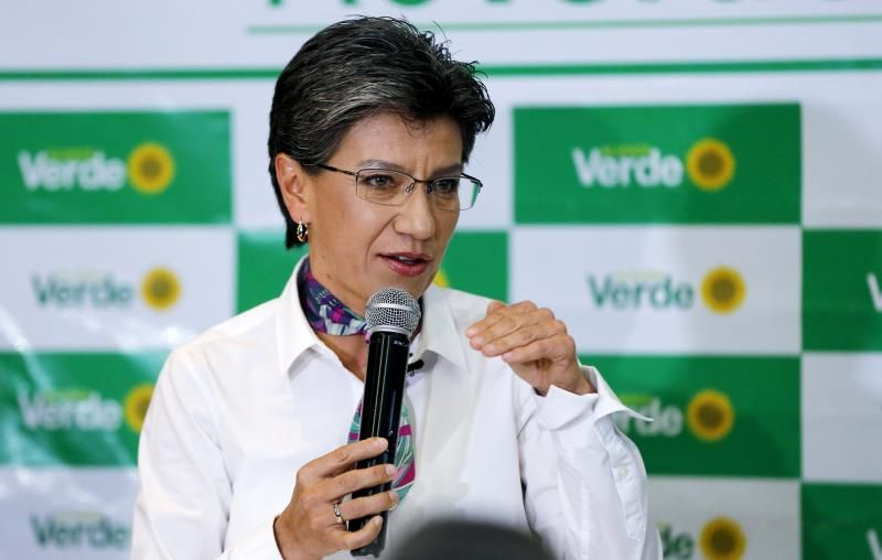 Claudia López, candidata a la alcaldía de Bogotá, Colombia. Foto: EFE