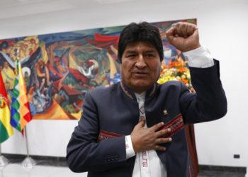 Evo Morales, presidente de Bolivia. Foto: AP