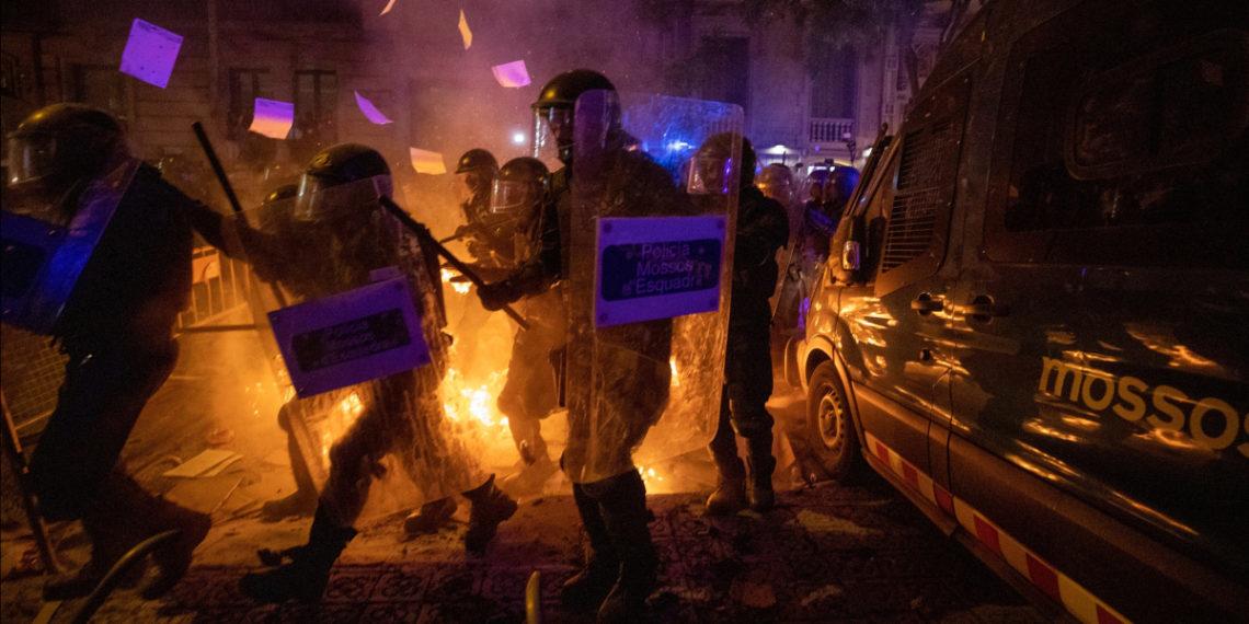 Protestas en Barcelona. Foto: AP