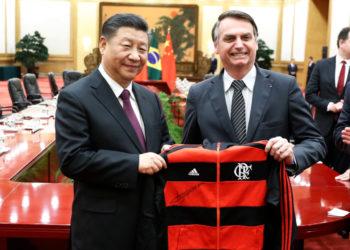 El presidente de Brasil, Jair Bolsonaro, y el presidente de China Xi Jinping. Foto: AP