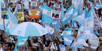 Manifestaciones en Argentina. Foto: AP