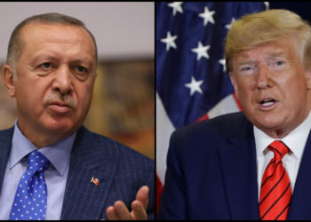 El presidente de Turquía, Recep Tayyip Erdogan, y el presidente de EE.UU. Donald Trump. Foto: AP