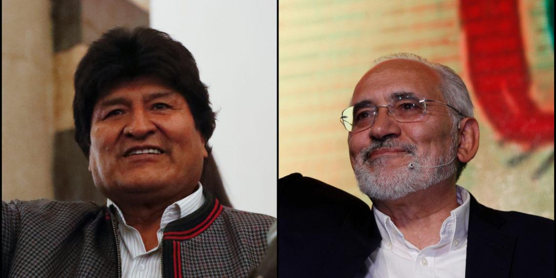 Evo Morales y Carlos Mesa disputarán la segunda vuelta presidencial en Bolivia. Foto: AP