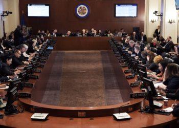 Reunión en la Organización de Estados Americanos (OEA). Foto: EFE/ Lenin Nolly