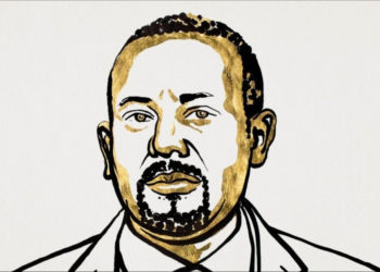 El primer ministro de Etiopía, Abiy Ahmed Ali, es el ganador del Premio Nobel de Paz. Foto: Niklas Elmehed/ Nobel Media.