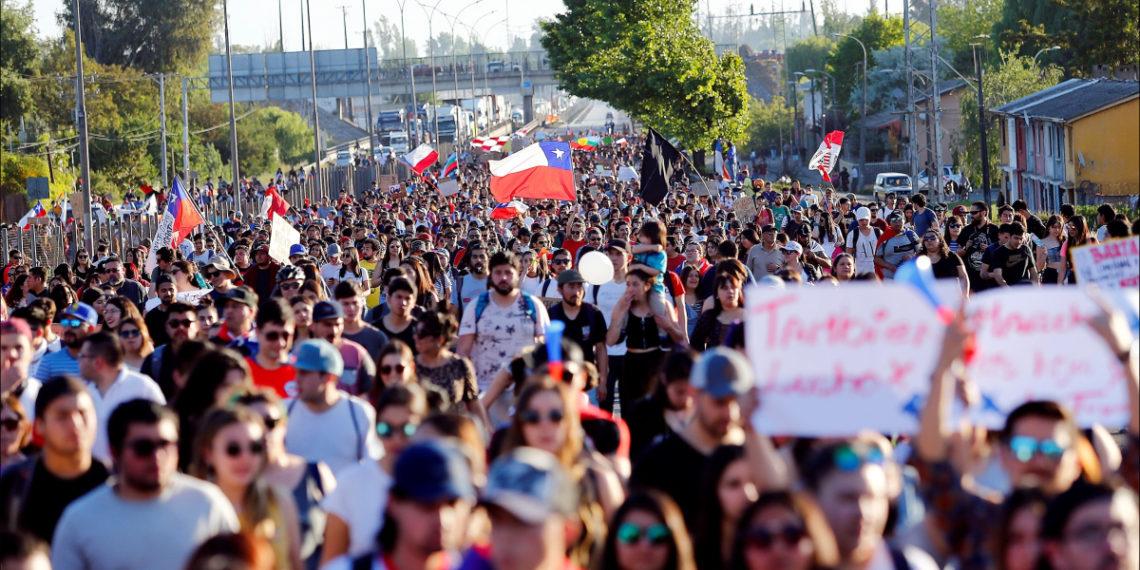 Protestas en Chile contra el Gobierno del presidente Sebastián Piñera. Foto: EFE