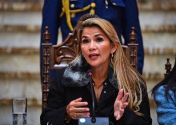 La presidenta interina de Bolivia, Jeanine Áñez. Foto: AFP