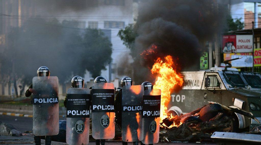 Protestas en Bolivia. Foto: AFP