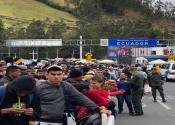 90,5% de los venezolanos entraron en Ecuador por controles fronterizos
