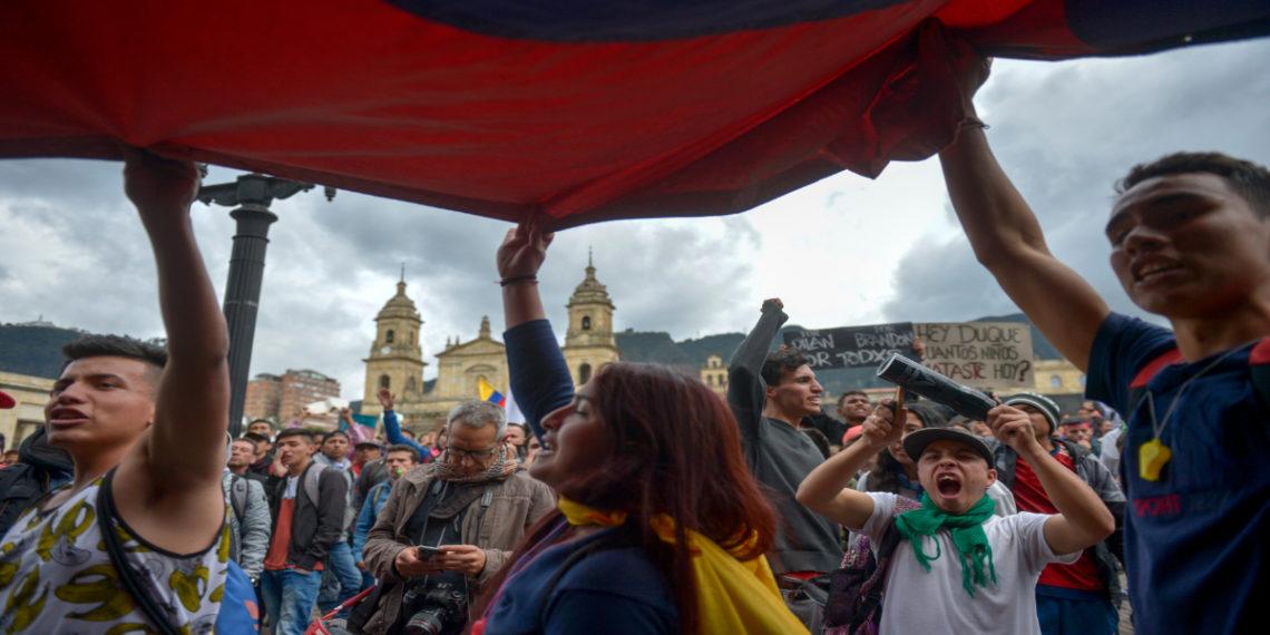 Protestas en Colombia. Foto: AFP