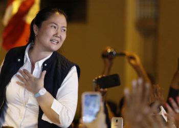 La líder opositora en Perú Keiko Fujimori quedó en libertad. Foto: EFE
