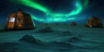 North Pole Igloos Hotel (NPIH) en el Ártico. Foto: EFE / Luxury Action.