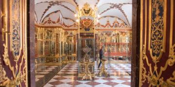 Colección en la Sala de Joyería de la Bóveda Verde de Dresde, Alemania. Foto: AP
