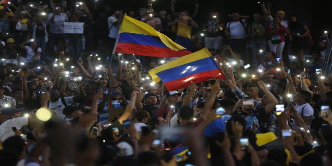 Protestas en Colombia por el paro nacional. Foto: AFP