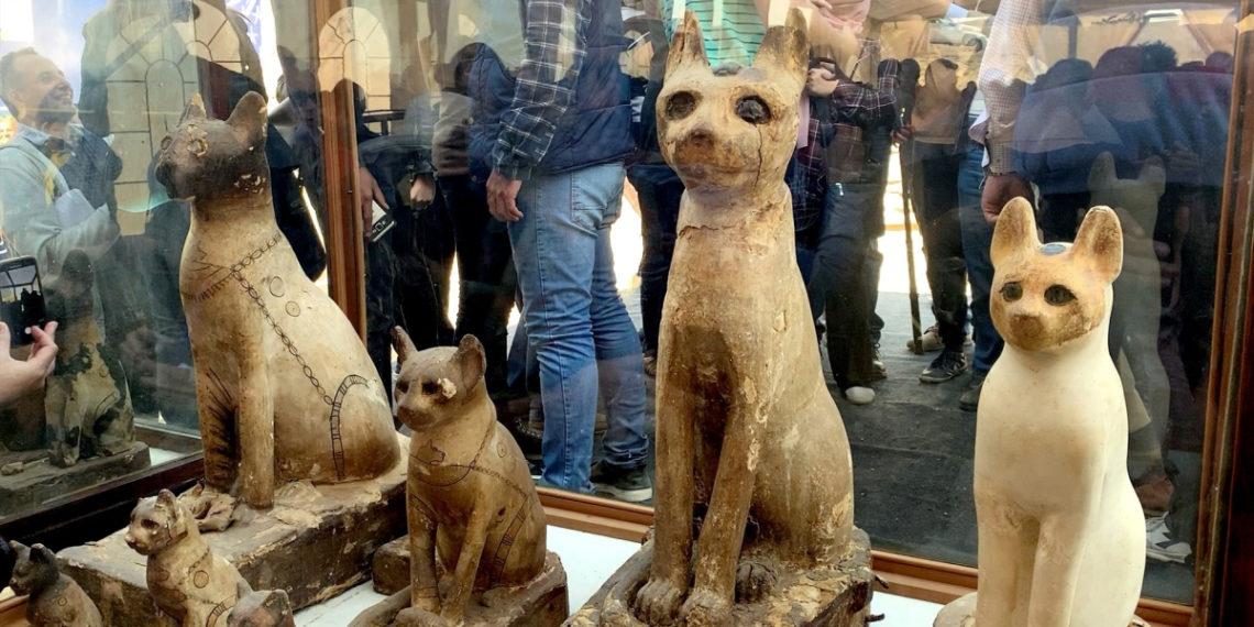 Las momias de cachorros de león fueron hallados cerca de las pirámides de Egipto. Foto: EFE